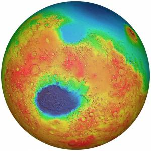 MOLA globe of Mars